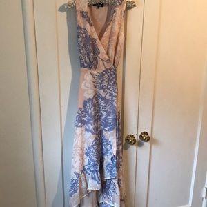 Lulus Hi-Lo floral wrap dress